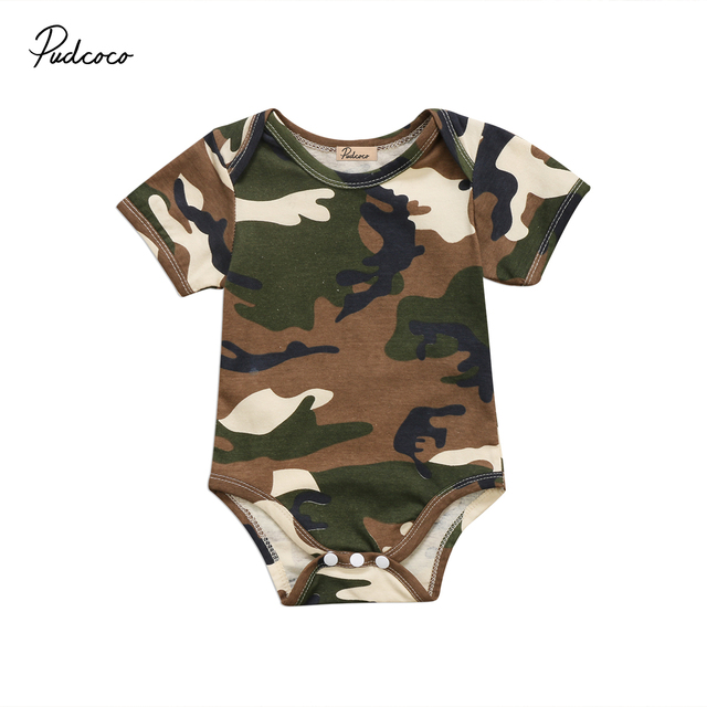 Baby Girl Camo Clothes Interesting Baby Boys Girl Camo Clothes Newborn Short Sleeve Romper Jumpsuit