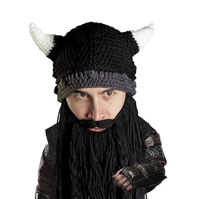 Cartoon Cuerno Vikingo Sombrero Hecho A Mano de Punto de Ganchillo ...