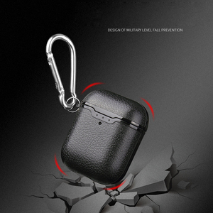 Image 5 - For Airpods Earphone Case Litchi Leather Pattern Soft TPU Bluetooth Wireless Earphone Case For Airpods 2 Wireless Charging Box