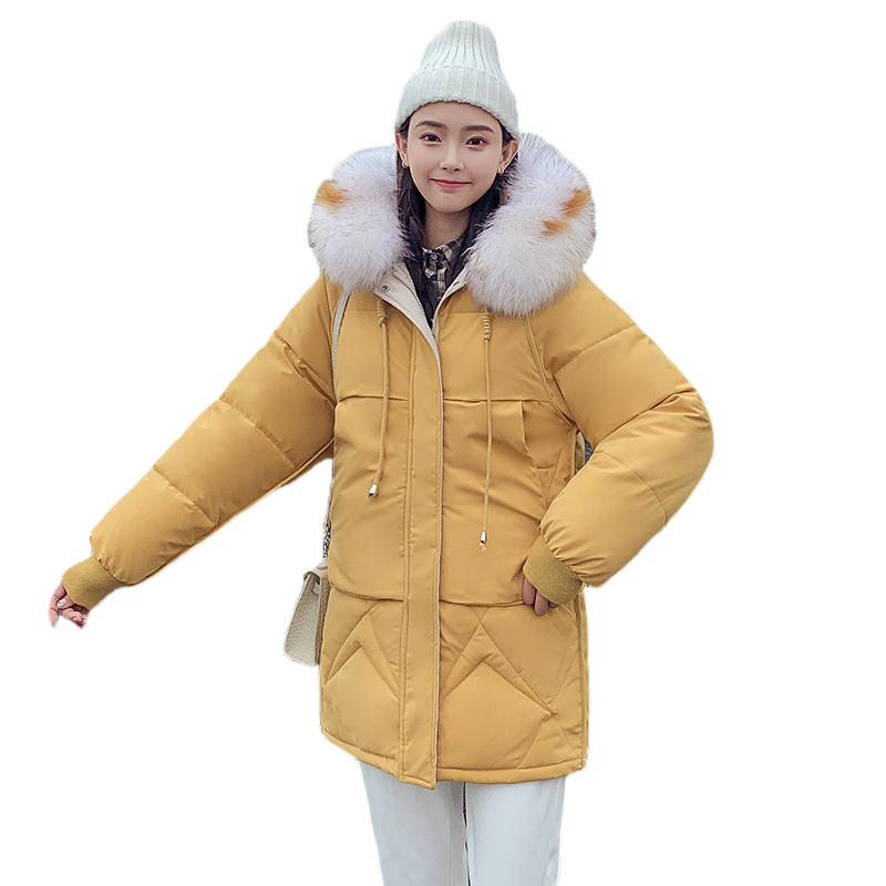 2019 new autumn and winter cotton padded jacket female loose bread clothing jacket winter parka coat womens long outerwear lady(China)