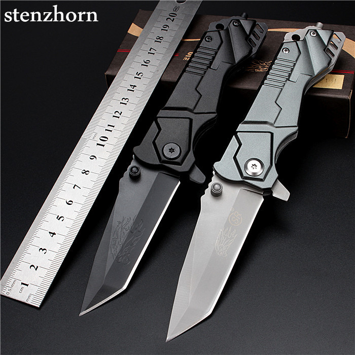 Stenzhorn 2017 New Arrival Real High Quality Outdoor Folding Knife Self-defense Wilderness Survival With Hardness Wild Fruit All  stenzhorn 2017 new real authentic self defense wilderness survival high hardness knife with wild fruit folding outdoor the devil