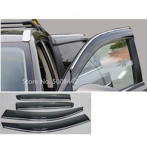 Image 1 - עבור מיצובישי הנכרי 2016 2017 2018 2019 2020 רכב כיסוי מקל מנורת פלסטיק חלון זכוכית רוח Visor גשם שמש משמר vent 4pcs