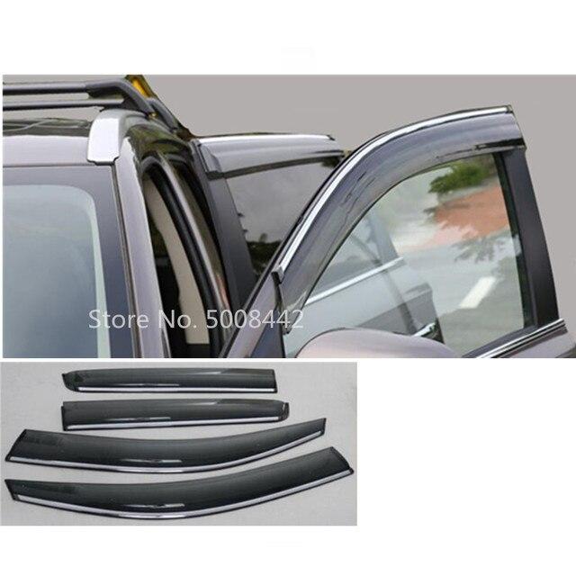 עבור מיצובישי הנכרי 2016 2017 2018 2019 2020 רכב כיסוי מקל מנורת פלסטיק חלון זכוכית רוח Visor גשם שמש משמר vent 4pcs
