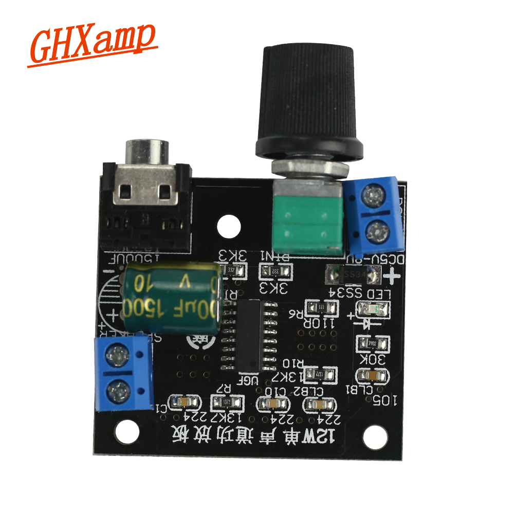 Ghxamp 12w Mono Amplifier Audio Board Class D Guitar Desktop Irs2092 Circuit Lm1036 Tone Controlled Bicycle Speaker Diy Dc5 8v In From Consumer Electronics On
