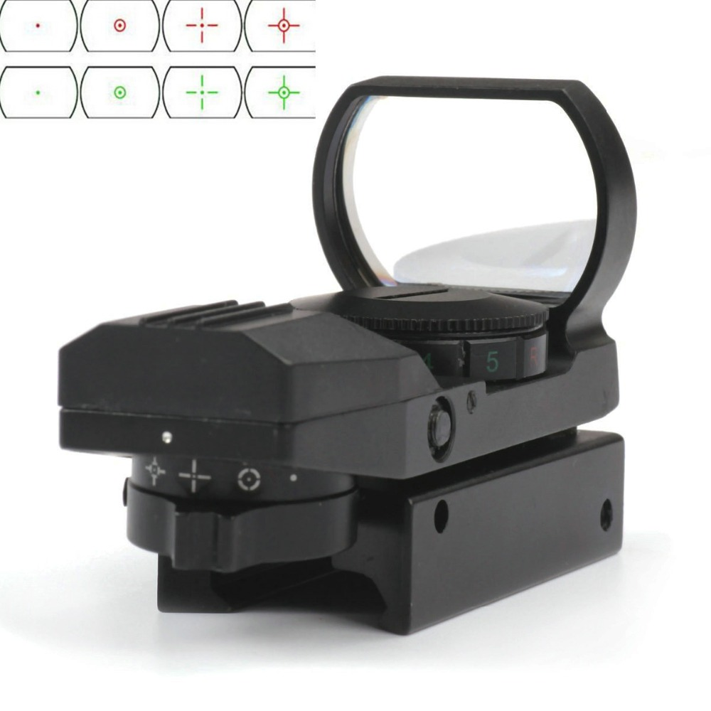 Holographic 4 Reticle 1x22x33 Green Red Dot Laser Sight Reflex Red Dot Sight Reflex Scope W/ Mount 20mm/11mm Hunting laser Sight el 1400 holographic red dot sight reflex sight 21mm rail mirino laser per carabina hunting optica scope