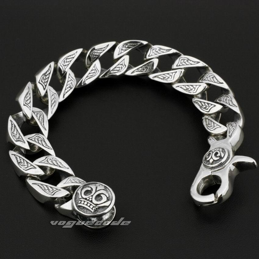 8 Lengths Huge Heavy Solid 925 Sterling Silver Mens Biker Bracelet 8w002 In Chain Link Bracelets From Jewelry Accessories On Aliexpress Alibaba