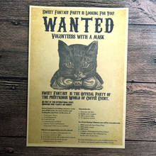 Free ship Vintage poster Cat Cafe Retro prints paint bar cafe home decoration Wall Art Crafts Sticker 42x30cm