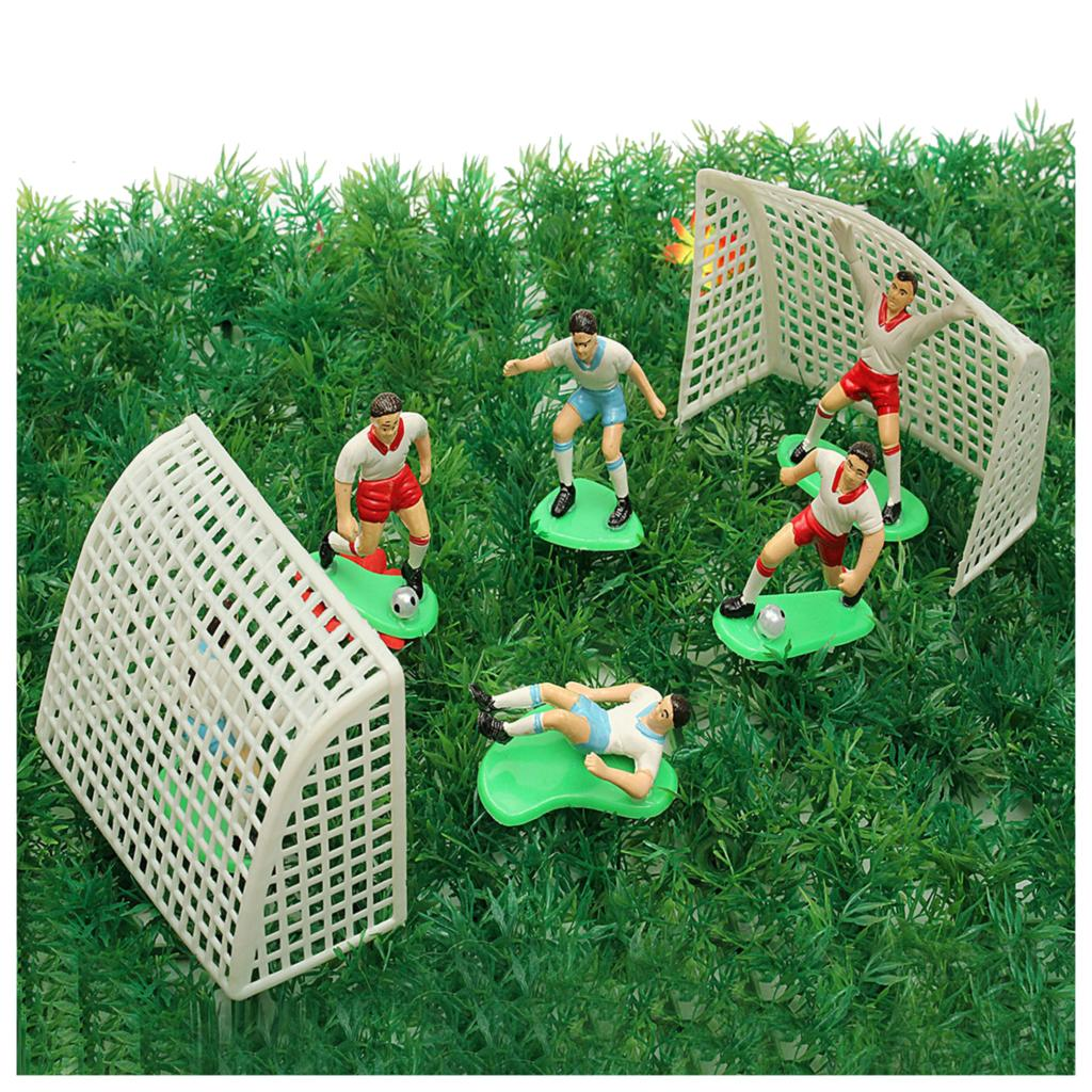 HOT SALE 8PCS Soccer Football Cake Topper Player Decoration Tool Birthday Mold Mould Set