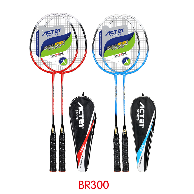 ACTEI BR300 Iron Alloy Integral Racket Pole Durable Line 25-27lbs High Middle Level Badminton Racket Offensive Badminton Racket
