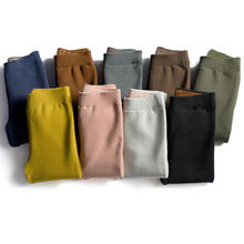 biktble Autumn High Waist Women Plus Velvet Thick Warm Pants Fleece Leggins Cotton