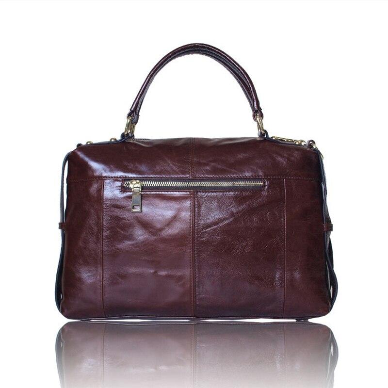 senhoras do vintage totes bolsa Material Principal : Couro Genuíno