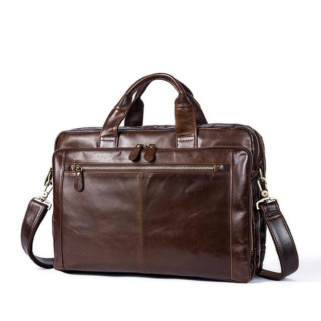 Genuine Leather Bag Men Messenger Bags Fashion Multifunction Shoulder Bags  Travel Handbags Men Tote Laptop Briefcases 5a154313c7