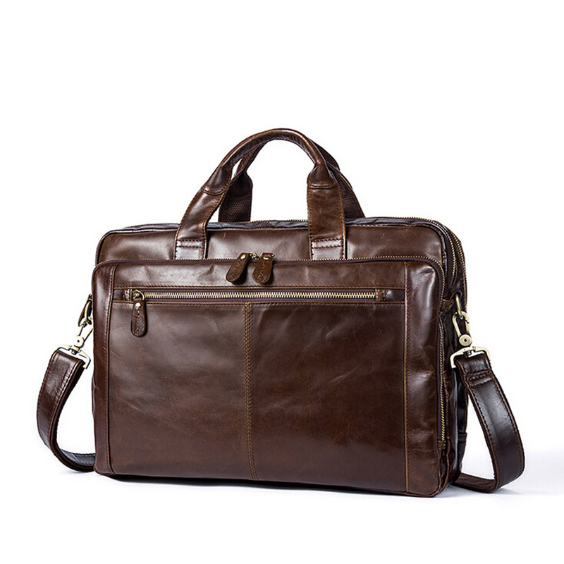 Genuine Leather Bag Men Messenger Bags Fashion Multifunction Shoulder Bags Travel Handbags Men Tote Laptop font