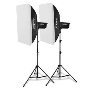 Image 2 - 2x Godox SL 200W 200Ws 5600K ستوديو LED المستمر صور فيديو ضوء + 2x2.8m ضوء حامل + 2x70x100 سنتيمتر الفوتوغرافي Softbox