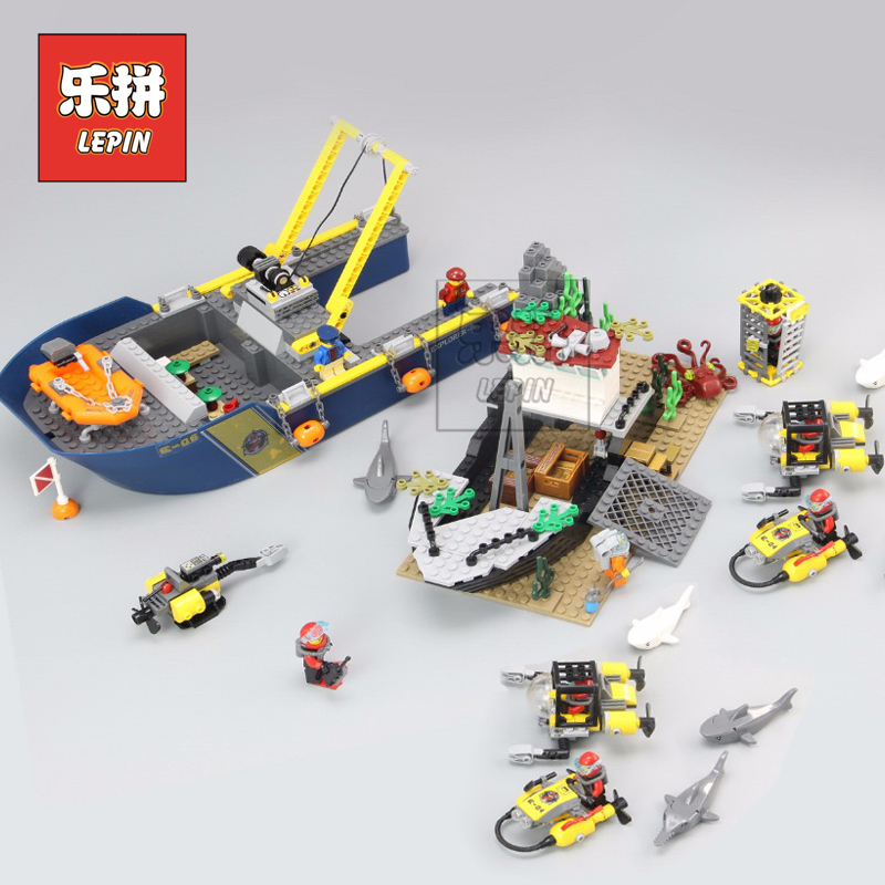 Lepin 02012 Creative City Series Deepwater Exploration Vessel DIY Set Model Building Kits Blocks Bricks Children Toys Hobbies цена
