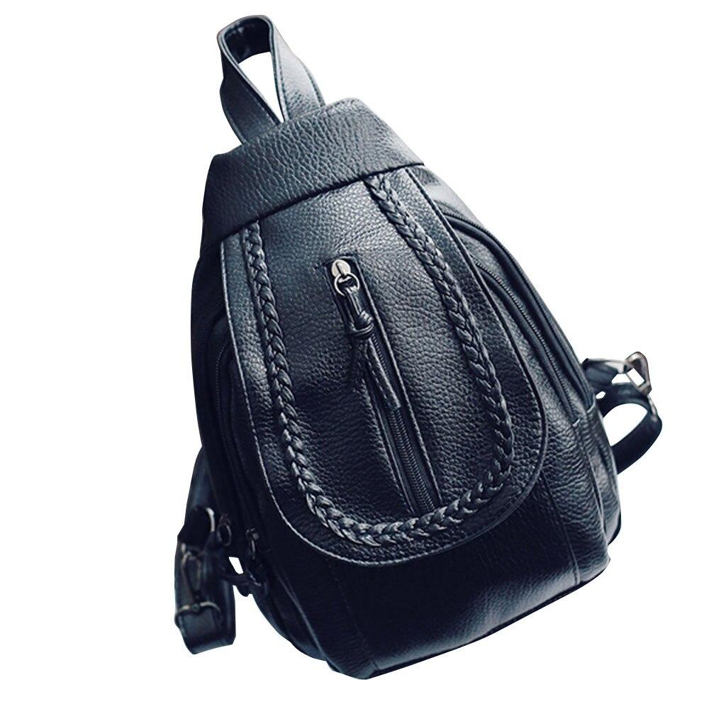 Top Popular Women Printed Tassel Shoulder Bag Purse Leather Messenger mochila Multi function Backpack Bag 2017