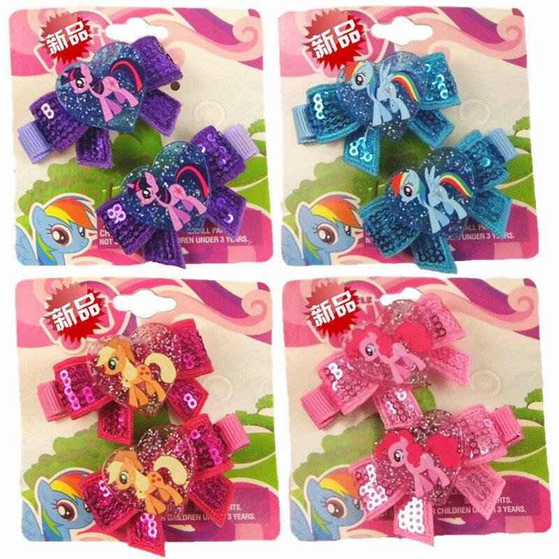 Toys & Hobbies Frank 2 Pcs/set Cartoon Cute Bling Shine Bow Hairpins My Little Baoli Hair Clip Colorful Hair Decorations Toys For Children Girl Gift