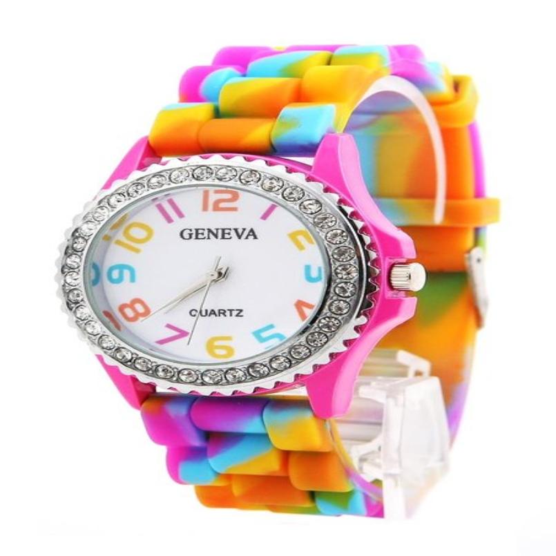 Excellent Quality Fashion Brand Soft Silicone Strap Jelly Quartz Watch Wristwatches for Women Ladies Watches Relogio Feminino