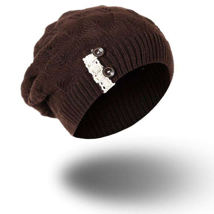 2017 Skullies Beanies Winter Hat For Women Warm Hat Fashion Knitting Warm Cap Warm Wool Hat Cap Fashion Winter Hats h8126