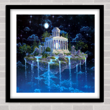 5d diy Diamond painting landscape Castle Home Decoration Resin Round Drill  Embroidery Needlework gift