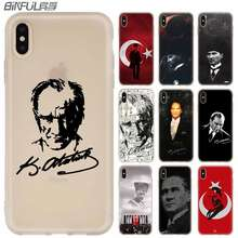 MLLSE Turkey Mustafa Kemal Ataturk Silicone Case FOR iPhone compatible 10 X XS Max XR For iPhone 5 5S SE 6S 6 4 4S 7 8 Plus(China)