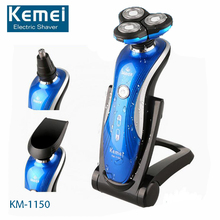 Original KM-1150 360 Degrees Rotary 3 in1 Electric Shaver Floating 3D Shaving Man Face Care Nose Ear Hair Trimmer Original