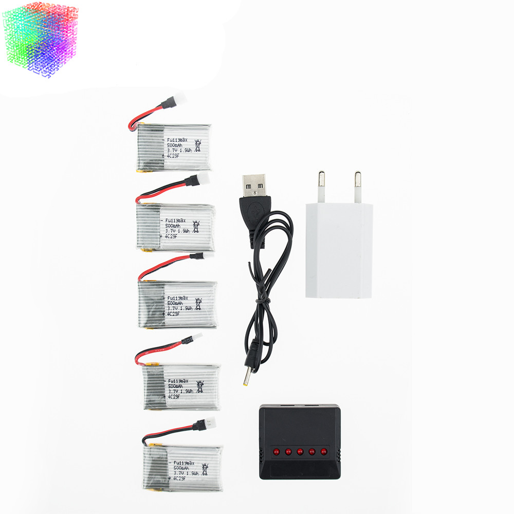 USEE Syma X5C rc 3.7v 500mah Lipo battery 5pcs and charger for syma x5 x5sc x5sc H5C X5A Helicopter drone part wholesale rc drone lipo battery 850 mah li po battery for syma x5c x5sw with 5in1 charger box for x5 x5a x5sc x5sw mjx x705c x6sw