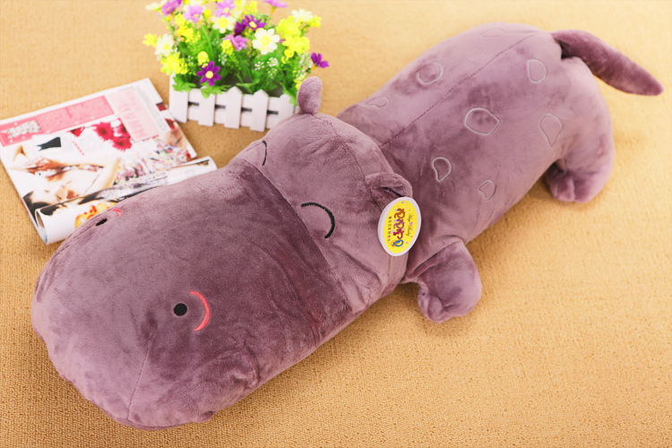 stuffed animal 70 cm purple hippo plush toy doll great gift w2479 цена и фото