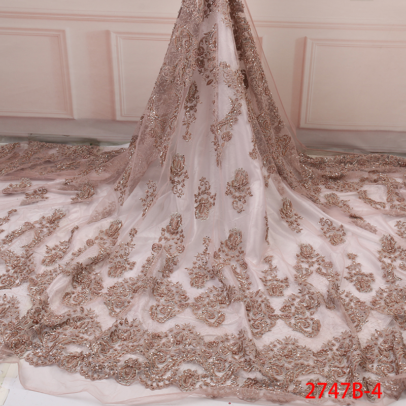 Latest African Lace Fabric High Quality 3d Luxury Fabric For Wedding Embrodery Nigerian French Lace Fabric