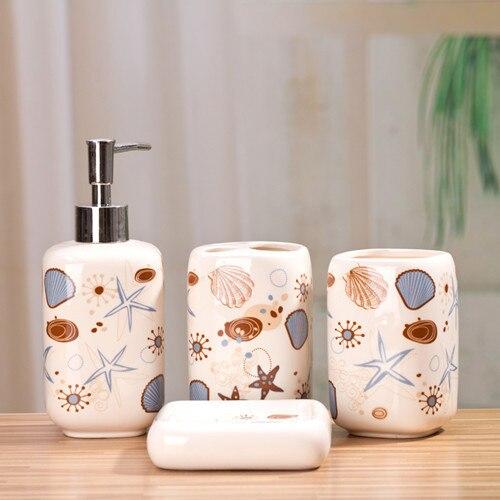 Accesorios de baño de cerámica cuarto de baño elegante kit ...