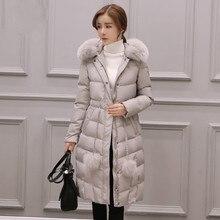 Women's Winter Jacket 2017 Parka Down Jacket Winter Coat Female Long Parka  Warm Cotton Padded Slim Thick Black Pink Green Gray