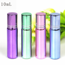 10ml Glass Perfume Empty Roller Bottle With Gold Lid Electroplated Roll On Bottles For Essential Oils Deodorant Containers цена в Москве и Питере