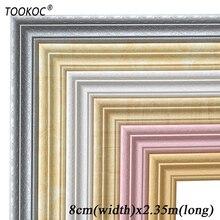 Самоклеющиеся полосы украшения стены пены полоски-накладки с клейкой линии талии стена для детской комнаты водостойкое основание стикер стены