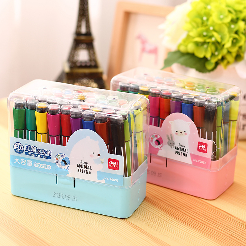 Color Pen Art Marker Drawing Set Colors Children Watercolor Pen Safe Non-toxic Water Washing Graffiti Health And Environmental