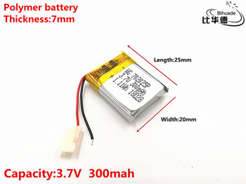 Good Qulity 3.7V,300mAH,702025 Polymer lithium ion / Li-ion battery for TOY,POWER BANK,GPS,mp3,mp4 image