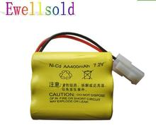 7.2V 400mAh Ni-CD AA battery for RC Truck/ HQ510 513 523 RC car/ RC boat /RC tank free shipping