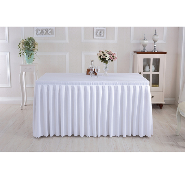 Conference Table Cloth Solid Polyester Tablecloths For Weddings Banquet  Decoration White Purple Red Table Skirts Toalha