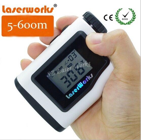Handheld laser rangefinder 600 meters waterproof outdoor golf range finder binoculars Monocular Engineering Velocimetry Tester handheld pet