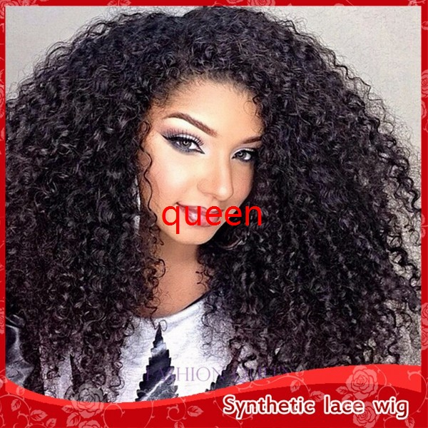 African American Wigs Fiber Afro Kinky Curly Hair Wigs Synthetic Lace Front Long Wigs For Black Women Lace Front Hair In Stock Hair Bow Wig Wig Caps For Lace Wigshair Half Wig Aliexpress