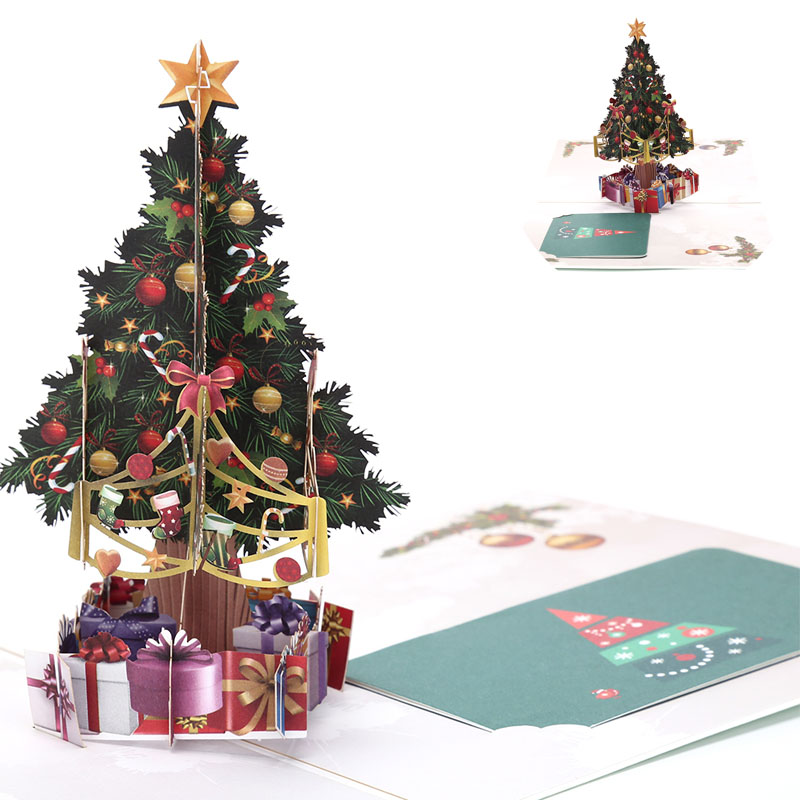 3d Christmas Tree.Us 1 73 18 Off Happy New Year 3d Christmas Tree Gifts Greeting Card Postcard Merry Xmas Pop Up Card Holiday Children Gift In Cards Invitations