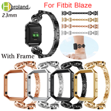 Stainless Steel watchband  For Fitbit Blaze smart replacement wristStrap For Fitbit Blaze bracelet with Frame 2 in 1 Watch Case crested for fitbit blaze frame replacement stainless steel case activity tracker smart watch accessories