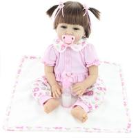22 дюйм(ов) 55 см возрождается ребенка силиконовые виниловые Куклы ручной реалистичные прекрасный подарок для ребенка для девочек классическ