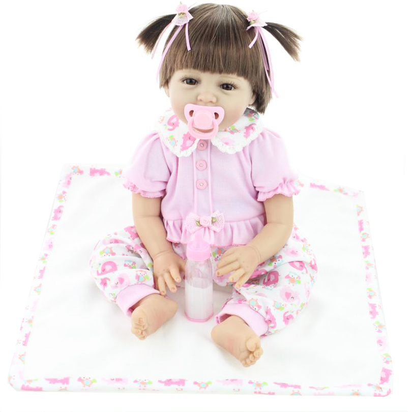 22 Inches 55cm Reborn Baby Silicone Vinyl Dolls Handmade Realistic Lovely Baby Gift for Girl Classic Kid Hobbies Toy Brinquedods