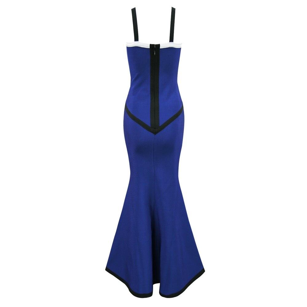 Bandage Blue Cheville Robe Bleu Noir Longueur Femmes 2018 Parti Manches En Sans Moulante Robes De D'été Nouveau Tricot Blanc UqH56