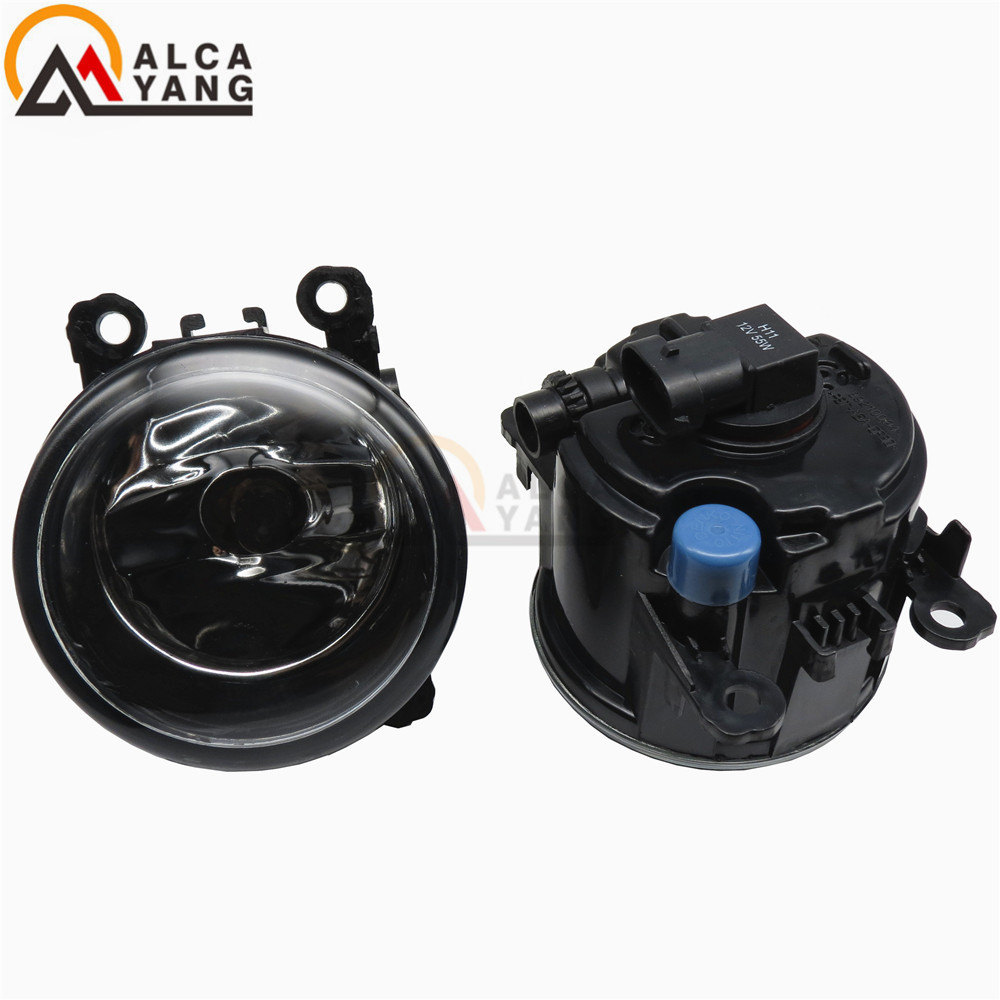 eagle eyes Front Fog Lamps Fog Lights Halogen LED Car Styling 35500-63J02 For Renault MEGANE 2 estate 2002-2015 2 pcs set car styling 6000k ccc 12v 55w drl fog lamps lighting for renault megane 2 estate 2002 2015 35500 63j02