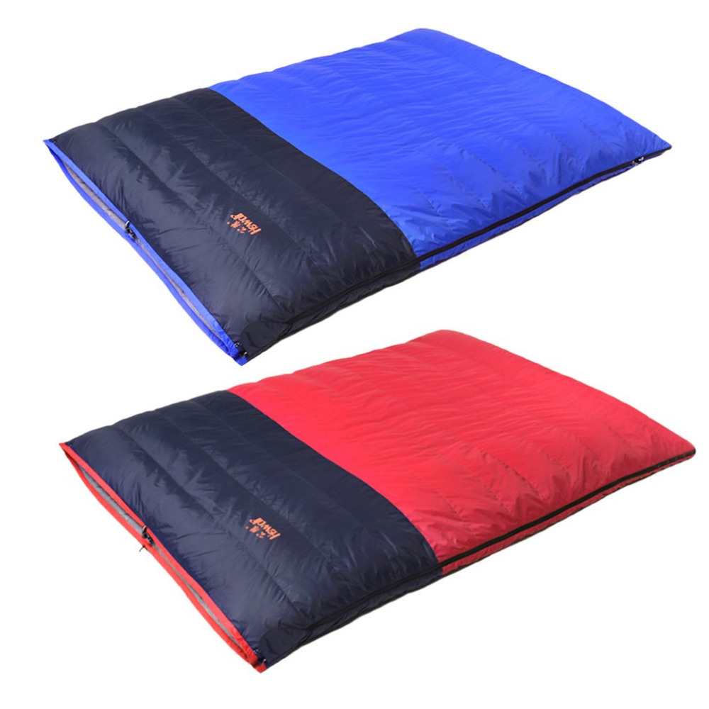 2 Colors Double Sleeping bag 3 Season Adult Outdoor Camping Travel Equipment Pillows Ultralight Envelope Couples Sleeping Bag couple double sleeping bag with pillows lightweight outdoor camping tour portable adult lover warm sleeping bag for 3 seasons