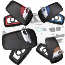 CITYCARAUTO CAR REMOTE KEY COVER HOLDER CAR KEY WALLET REAL LEATHER FIT FOR F10 F20 F30