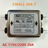 CW3 20A S Power Filter AC 125V 250V 20A 50 60HZ Single Phase EMI Filter