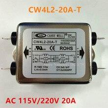 CW4L2-20A-T Power Filter AC 115V / 250V 20A 50/60HZ Single Phase EMI filter