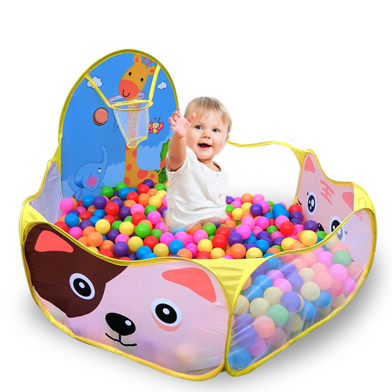 Kids Baby Playpen Cartoon Cast Basketball Indoor Outdoor Ocean Ball Pool Play Game House Tent Pool Children Tent Baby Play Yard free shipping 3 in 1 kids tent pipeline crawling huge game play house baby play yard ball pool outdoor indoor baby playpen